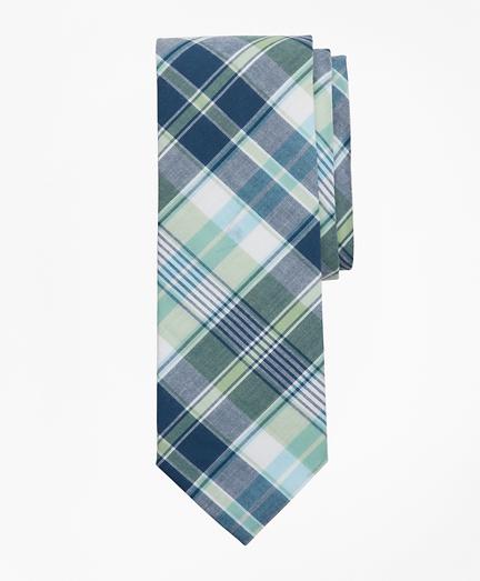 Green Madras Tie