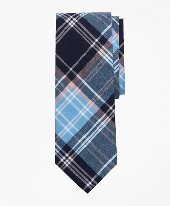 Blue Madras Tie Blue