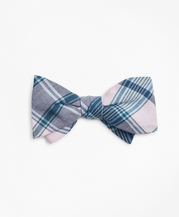 Pink Madras Bow Tie Pink
