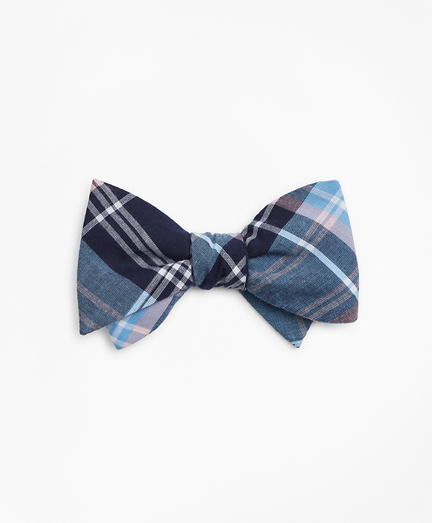Blue Madras Bow Tie