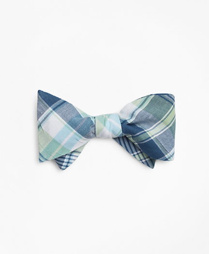 Green Madras Bow Tie