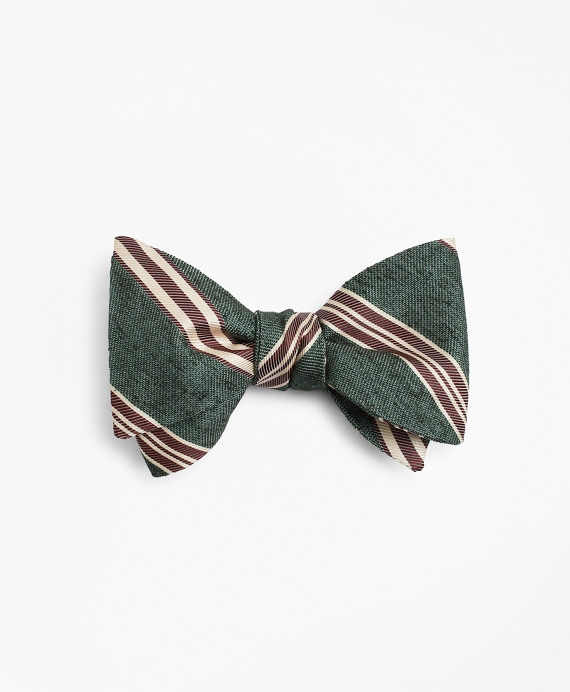 Vintage Stripe Bow Tie Green
