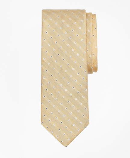 Linen and Silk Floral Tie