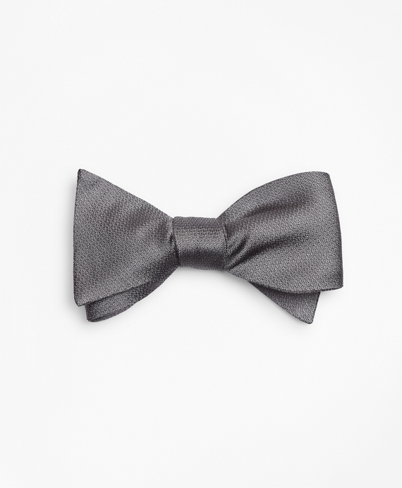 Textured Bow Tie Grey