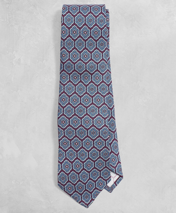 Golden Fleece® Lotus Medallion Silk Tie Wine