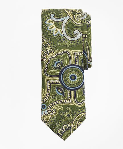 Paisley Print Wool Tie