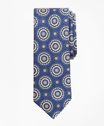 Medallion Print Wool Tie