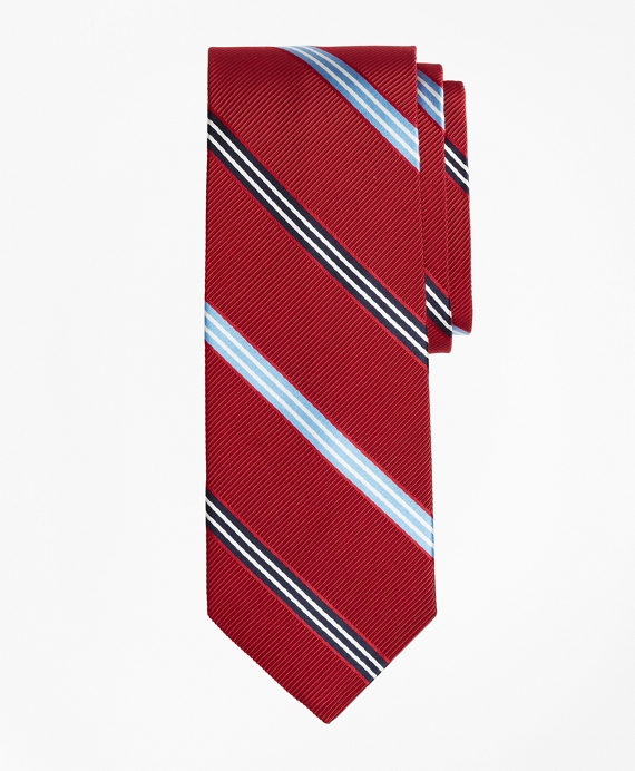BB# 1 Stripe Ribbed Tie Red
