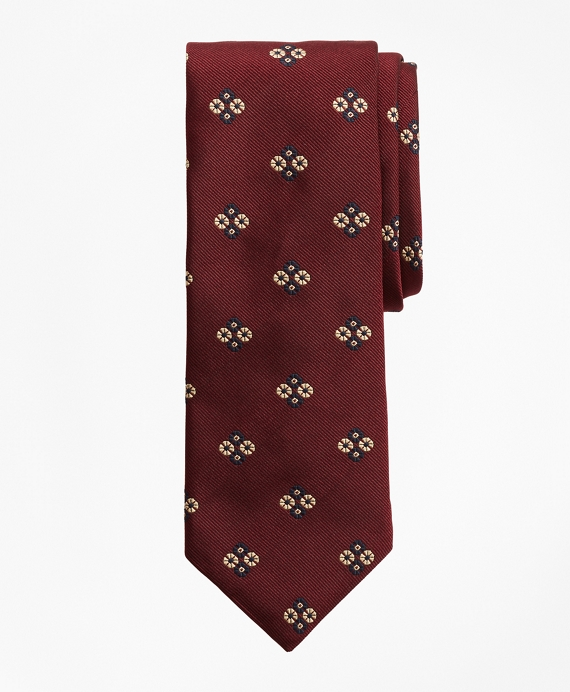 Limited Edition Archival Collection Floral Silk Jacquard Tie Wine
