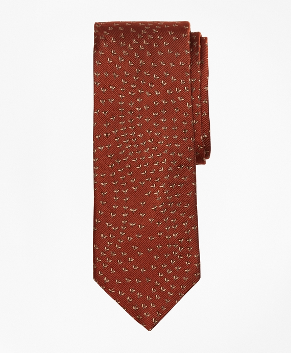 Limited Edition Archival Collection Vine Silk Jacquard Tie Rust