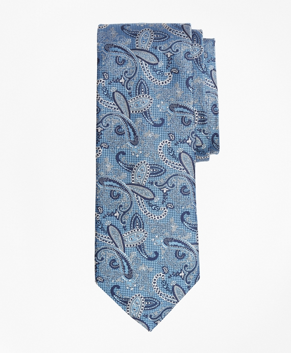 Textured Paisley Tie Blue