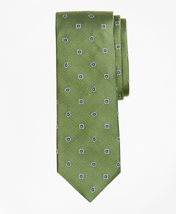 Textured Neat Tie Green
