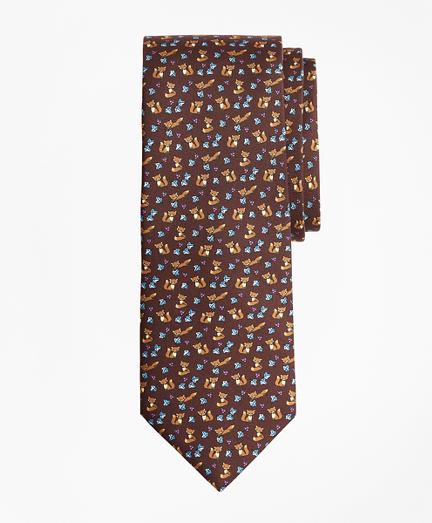 Fox Print Tie