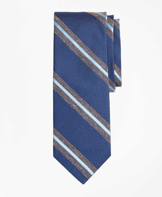 Open Stripe Tie Blue