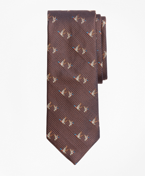 Flying Ducks Tie Brown
