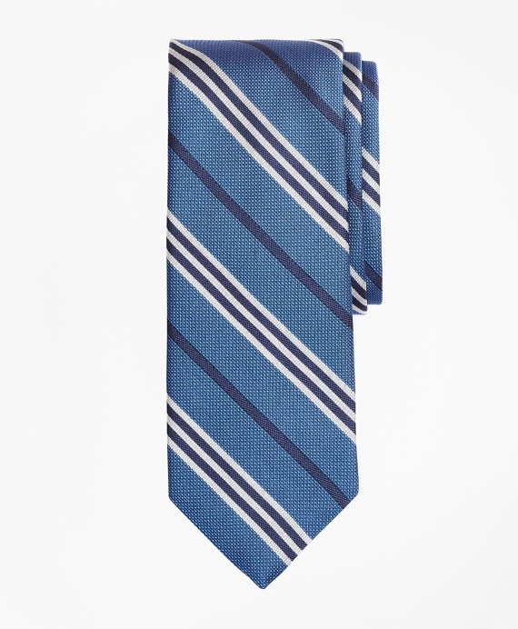 Textured BB#1 Stripe Tie Blue
