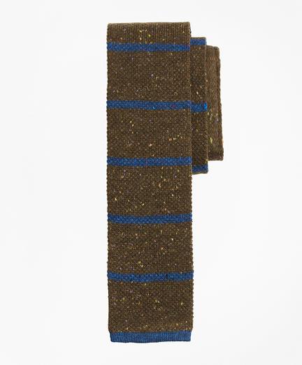 Stripe Donegal Knit Tie