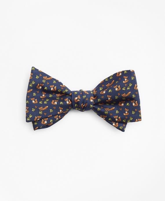 Fox Print Bow Tie Navy
