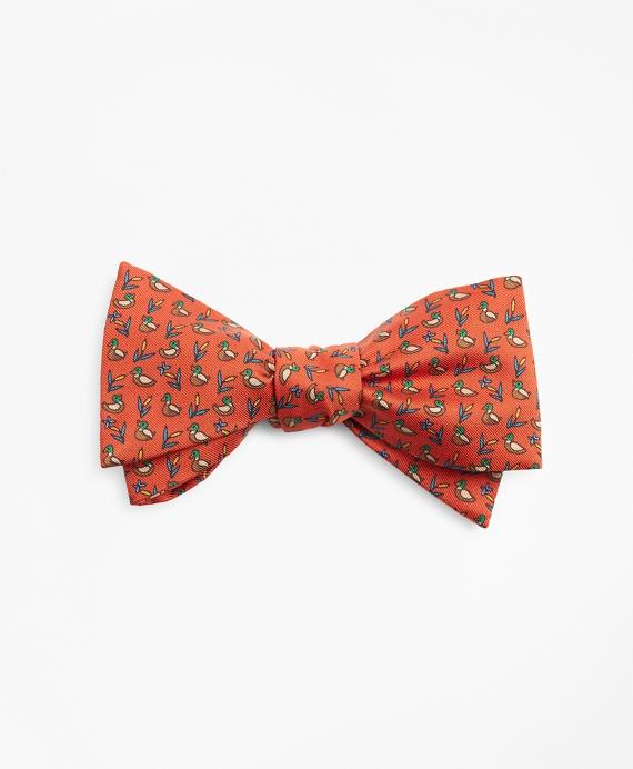 Duck Print Bow Tie Rust