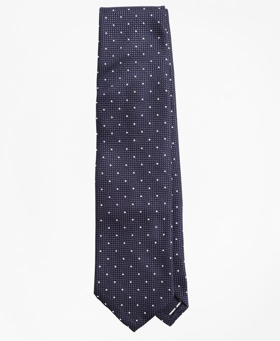 Golden Fleece® Fine Dotted Wool-Silk Tie Navy
