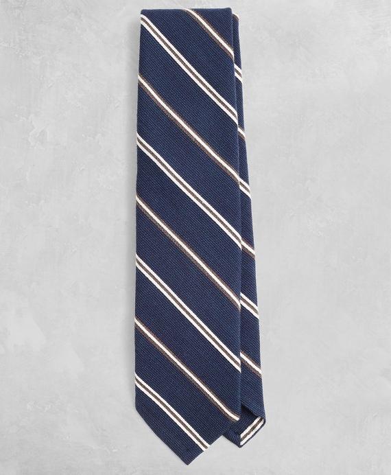 Golden Fleece® Alternating-Stripe Wool-Blend Tie Navy