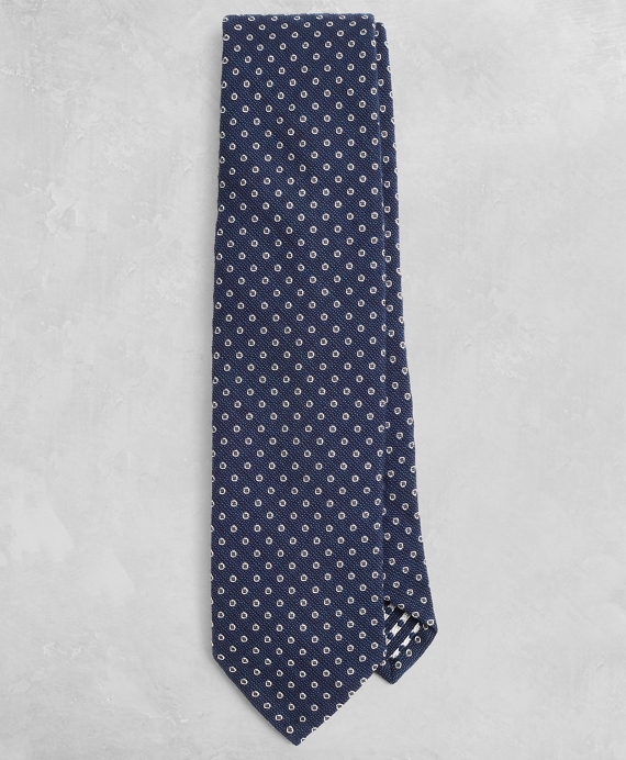 Golden Fleece® Dotted Wool-Blend Tie Navy