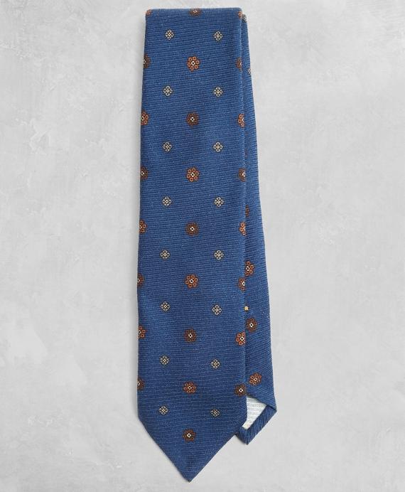 Golden Fleece® Floral Wool Tie Navy