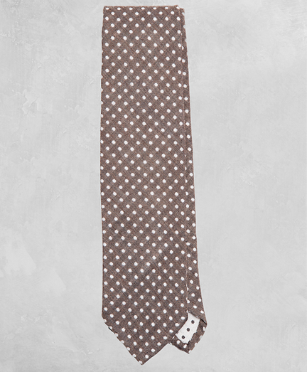 Golden Fleece® Dotted Wool-Silk Tie