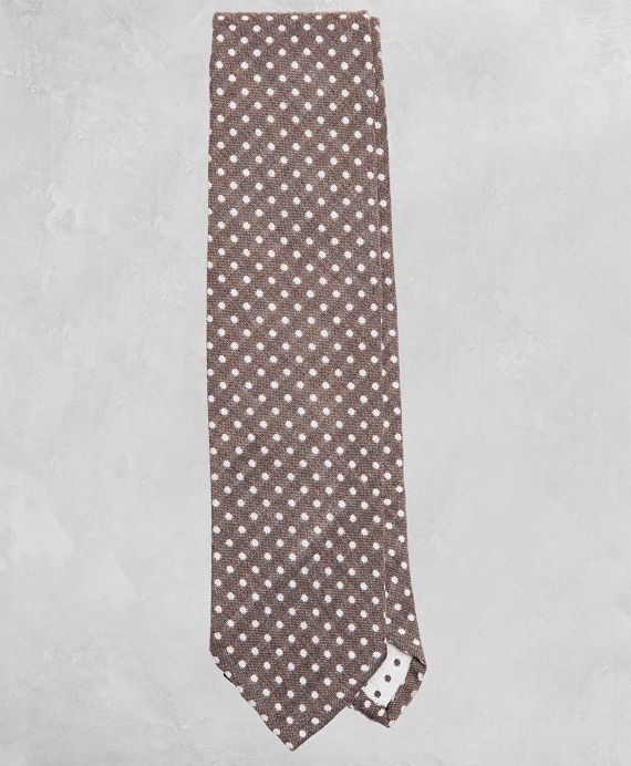 Golden Fleece® Dotted Wool-Silk Tie Taupe