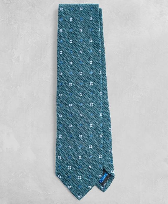 Golden Fleece® Patterned Wool-Silk Tie Teal