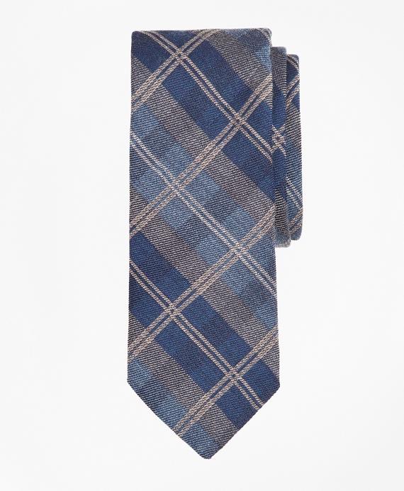 Plaid Tie Blue