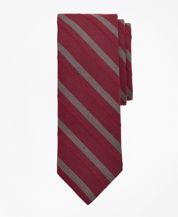 Pencil Stripe Tie Wine