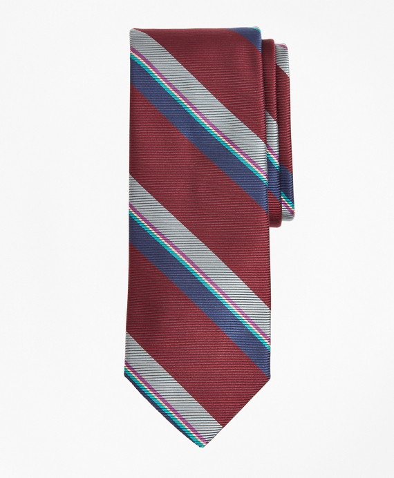 Vintage Stripe Tie Wine