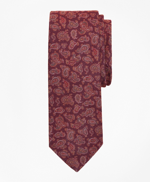 Velvet Pine Print Tie Wine