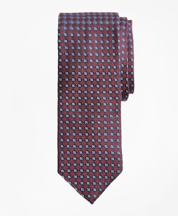Checkered Neat Tie Wine