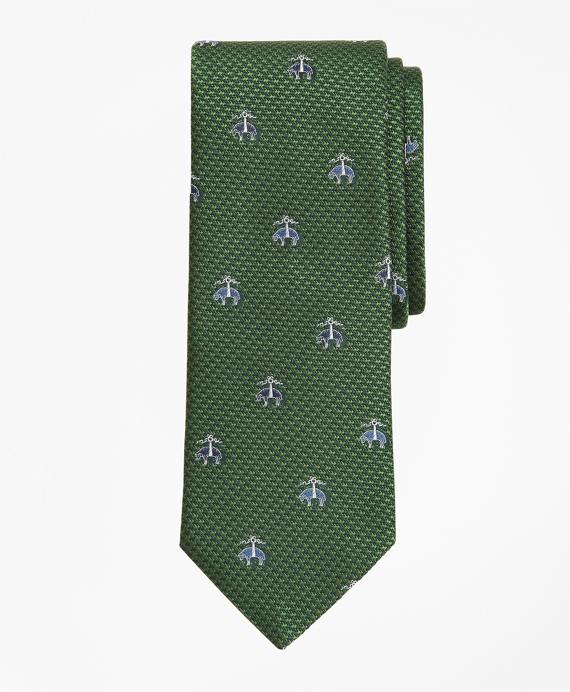 Herringbone Fleece Tie Green