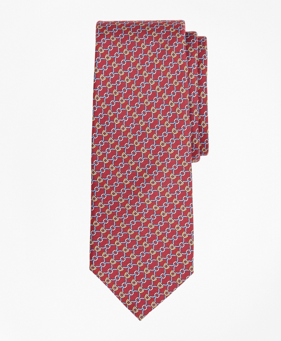 Connected Bits Print Tie Red