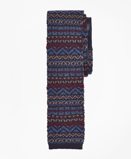 Fair Isle Knit Tie