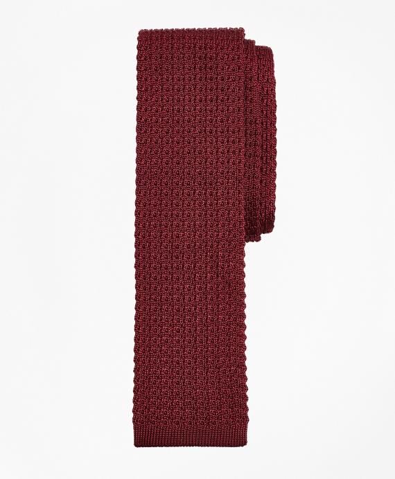 Textured Knit Tie Wine