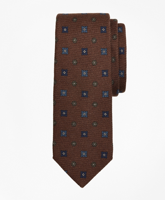 Square Neat Tie Brown