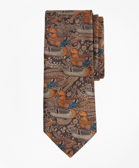 Duck Motif Tie Brown