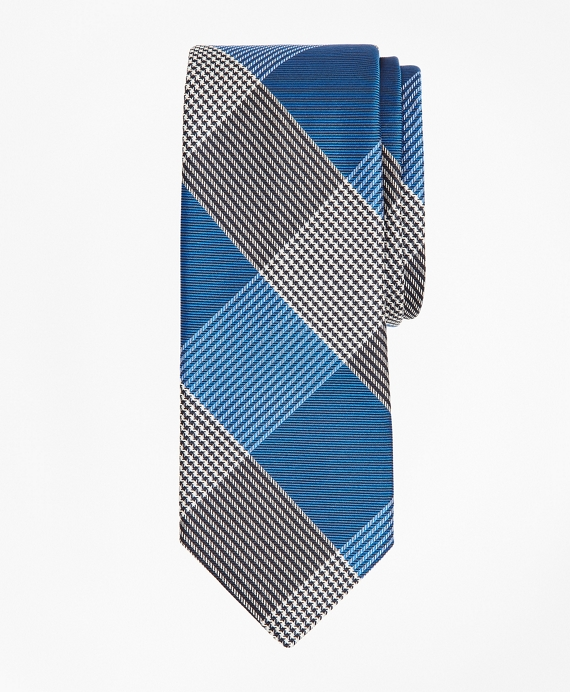 Glen Plaid Tie Blue