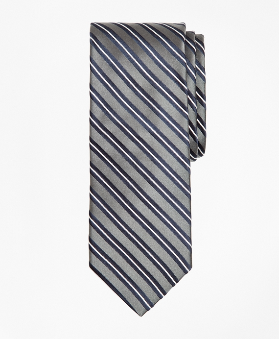 Stripe Tie Grey