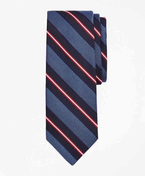 Hatching Stripe Tie Blue