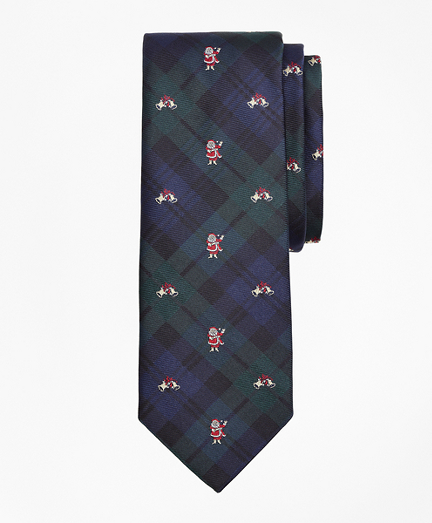 Plaid with Santa Claus Tie