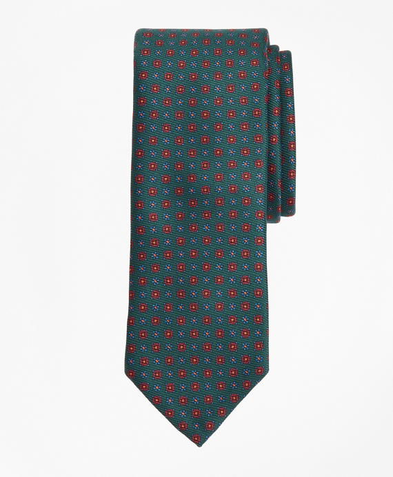 Limited-Edition Archival Collection Neat Silk Tie Green