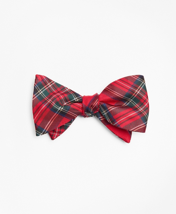 Prince of Wales Tartan Bow Tie Red