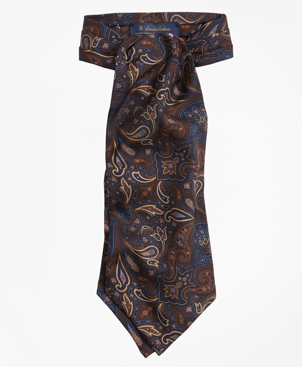 1960s – 70s Men's Ties | Skinny Ties, Slim Ties Brooks Brothers Mens Paisley Print Ascot $171.00 AT vintagedancer.com