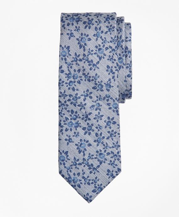 Floral Tie Grey