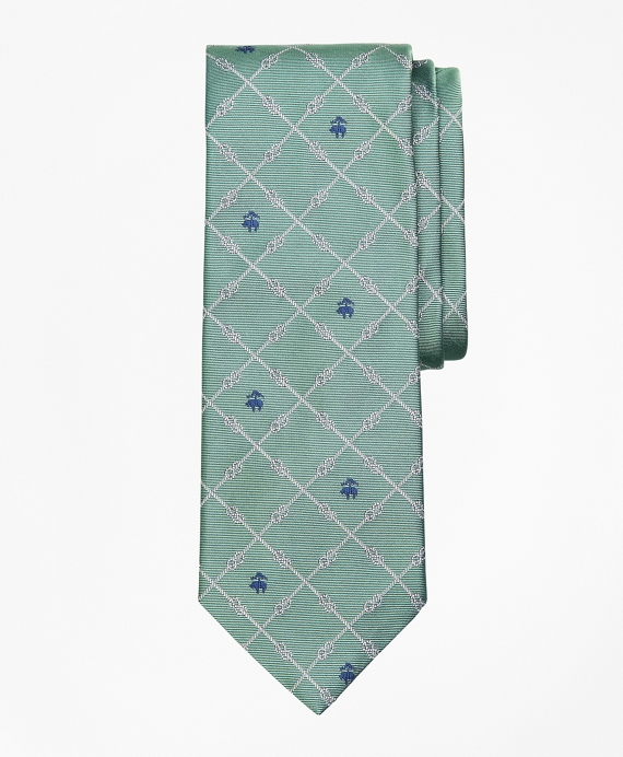 Nautical Knots and Fleece Tie Green